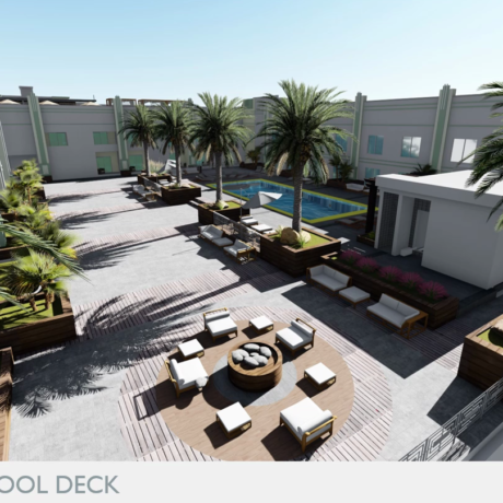 Hyatt Render Pool Deck