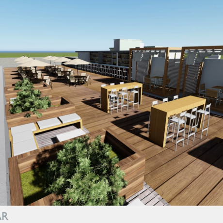 Hyatt Render Rooftop Bar