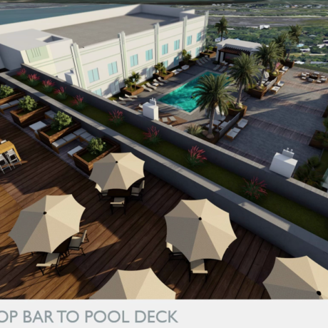 Hyatt Render Rooftop Bar to Pool Deck